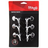 Stagg Chrome Electric Guitar Machine Heads 3 A Side KG395CR (105323)
