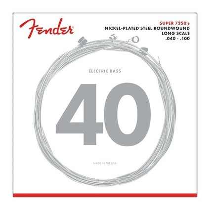 Fender 40-100 7250L Nickel Plated Bass Strings (129657)
