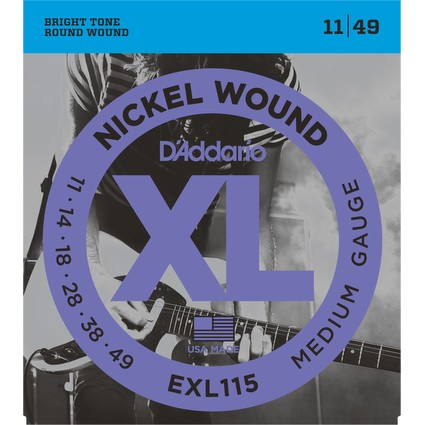 D'Addario EXL115 Electric Guitar Strings - 11-49 (138239)