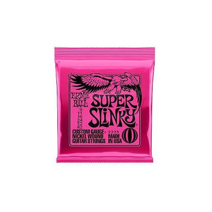 Ernie Ball 09-42 Super Slinky Electric Guitar Strings (154)