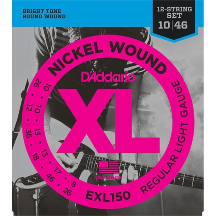 D'addario EXL150 Electric Guitar Strings - 12-String, 10-46 (178952)