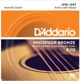 D'Addario EJ15 Acoustic Guitar Strings - Extra Light, 10-47 (18784)