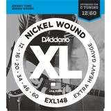 D'addario 12-60 Electric Guitar Strings - EXL148 (189194)