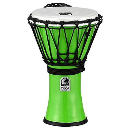 "Toca 7"" Freestyle Colorsound Djembe - Metallic Green (195461)"