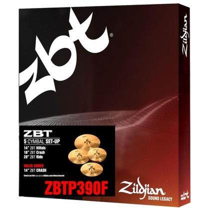 Zildjian ZBT390-F ZBT Cymbal Box Set With 14in Crash (199803)