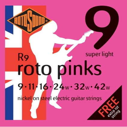 Rotosound Pink Electric Guitar Strings - 9-42 (215)