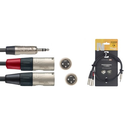 Stagg NYC1/MPS2XMR Deluxe 3.5mm Jack - 2 X Male XLR 1M (237741)