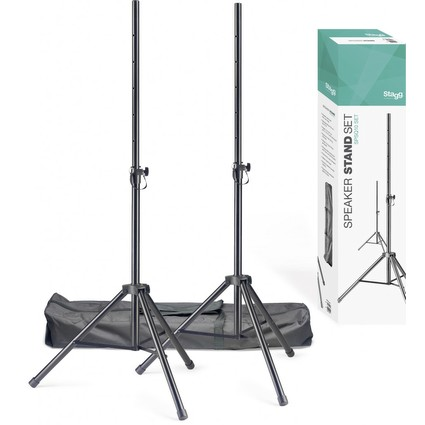 Stagg SPSQ10 Set Of 2 Speaker Stands - Inc Bag (241861)