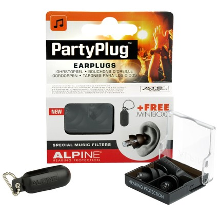 Alpine PartyPlug Earplugs - Black (246798)