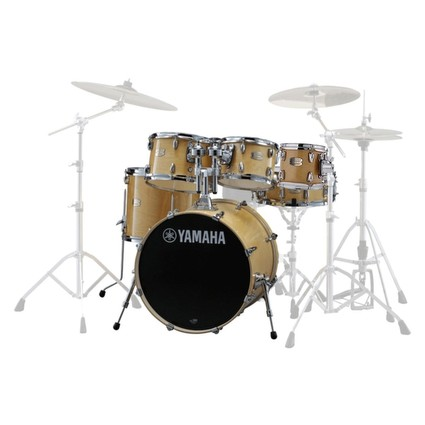"Yamaha Stage Custom Birch Drum Kit - Natural Wood Inc 8"" Tom, Tom Holder And Clamp (251280)"