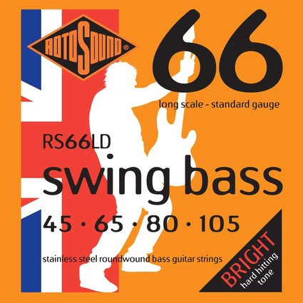 Rotosound RS66LD Swing Bass Strings - 45-105, Long Scale (26192)