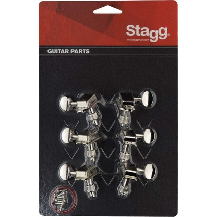 Stagg KG648NK 6 In Line Kluson Style Machine Heads (268233)