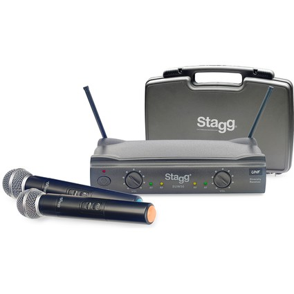 Stagg Dual Handheld Wireless Mic Radio System 864.2-864.7 (288392)