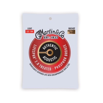 Martin MA540T Authentic Acoustic Treated Strings - 12-53, Treated (291507)