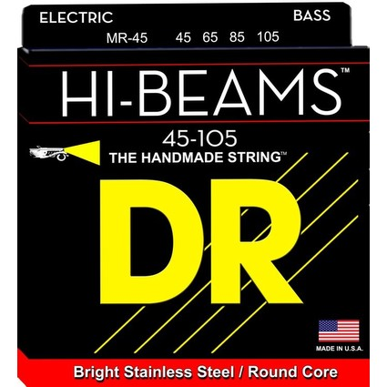 DR HI-BEAMS 45-100 Bass Strings Set - Stainless Steel, Round Core LR40 (293211)