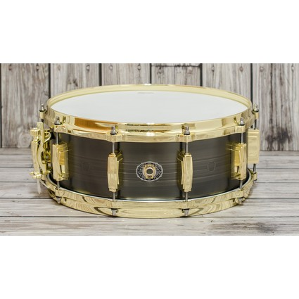 "Ludwig 110th Anniversary Heirloom Black Brass 14"" X 5.5"" Snare Drum (300384)"
