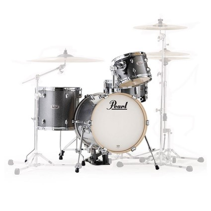 Pearl Midtown 4 Piece Drum Kit Shell Pack - Grindstone Sparkle Inc. Gig Bag Set (303354)