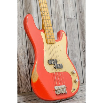 Pre Owned Fender Road Worn 50s Presicion Bass Fiesta Red (314343)