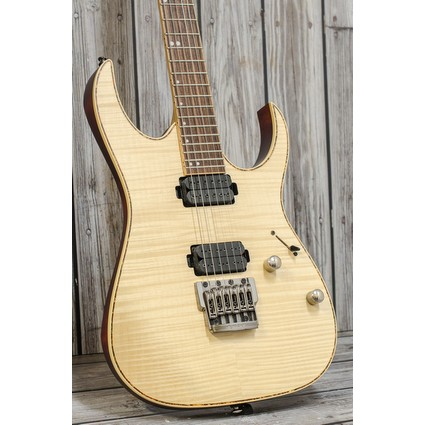Pre Owned Ibanez RG721FM Natural Inc Case (316736)