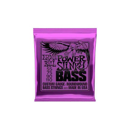 Ernie Ball 55-110 Power Slinky Bass Guitar Strings (32209)