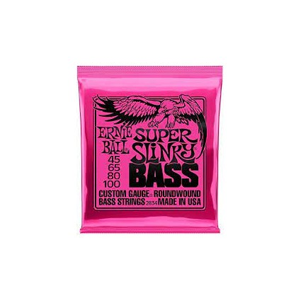 Ernie Ball 45-100 Super Slinky Bass Guitar Strings (32230)