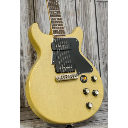 Pre Owned Gibson 2007 Custom Shop Les Paul 60 Double Cut TV Yellow Inc. Case (324182)