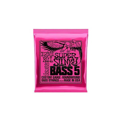 Ernie Ball 40-125 Super Slinky 5-String Bass Guitar Strings (37716)