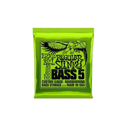 Ernie Ball 45-130 Regular Slinky 5-String Bass Guitar Strings (37723)