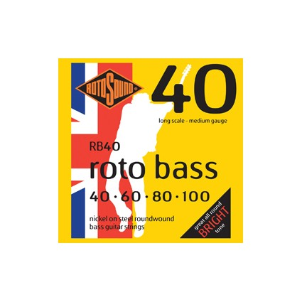 Rotosound Rotobass Bass Guitar Strings 40-100 - RB40 (38188)