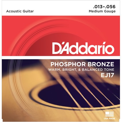D'Addario EJ17 Acoustic Guitar Strings - Medium, 13-56 (505)