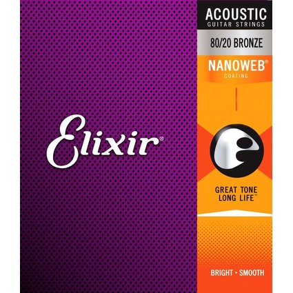 Elixir Nanoweb Acoustic Guitar Strings 13-56 (73103)