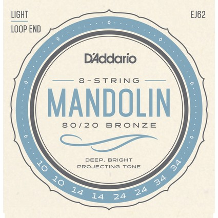D'Addario EJ62 Mandolin Strings, 0.10-.034 (76470)