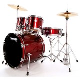 "Mapex Tornado Drum Kit - 20"" Fusion - Burgundy Red (89364)"