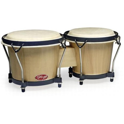 Stagg BW-70 Wood Bongos 6'' and 7'' Nat. (91121)
