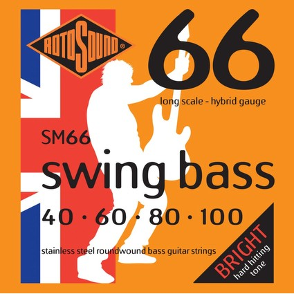 Rotosound SM66 Swing Bass Strings -  40-100, Long Scale (91930)