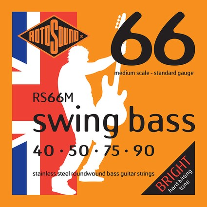 Rotosound RS66M Swing Bass Strings - 40-90, Medium Scale (91954)