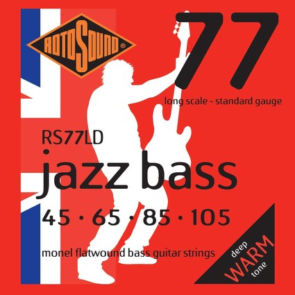 Rotosound RS77LD Jazz Bass Strings - 45-105, Flatwound, Long Scale (91961)