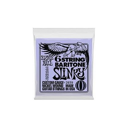 Ernie Ball Baritone Slinky Electric Guitar Strings 13-72 (95976)