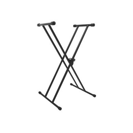 On Stage KS7191 Double X Frame Keyboard Stand - Stands - Keyboard Stands